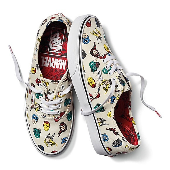 vans slip on marvel